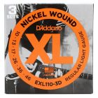 D'addario strings EXL110-3D nickel roundwound - 010 - 3 Sets
