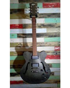 Hofner Very Thin UK Exclusive Electric Guitar, Black Stain, HIVTHBKUK