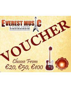 Everest Music Gift Vouchers - Various Amounts