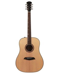 Sire Acoustics A4 Series Larry Carlton Top and Back Solid Acoustic Dreadnought Guitar (Roasted Top) with SIB Electronics, A4DSNT - Natural