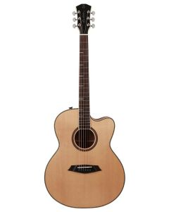 Sire A4 Series Larry Carlton Top and Back Solid Acoustic Grand Auditorium Guitar (Roasted Top) with SIB Electronics, A4GSNT - Natural