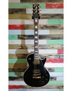 Burny Les Paul Custom Style Electric Guitar RLC-55 BL Black