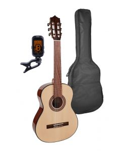 Martinez Elementary Series 3/4 Classical Guitar Pack with Bag and Tuner