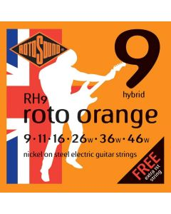 3 Sets of Rotosound RH9 Roto Orange - Hybrid Electric Strings