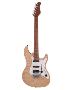 Sire Guitars S7 Series Larry Carlton Electric Guitar S-Style with Flamed Maple Top, S7FM/NT - Natural