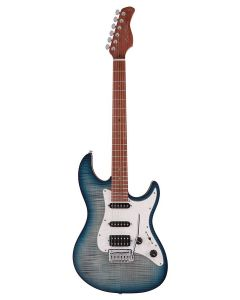 Sire Guitars S7 Series Larry Carlton Electric Guitar S-Style with Flamed Maple Top, S7FM/TBL - Transparent Blue