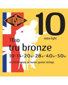 Rotosound Tru Bronze String Set Acoustic 80/20 Bronze 10-50 TB-10