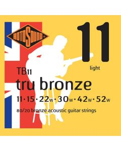 Rotosound Tru Bronze String Set Acoustic 80/20 Bronze 11-52 TB11