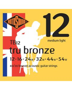 Rotosound Tru Bronze String Set Acoustic 80/20 Bronze 12-54 TB12