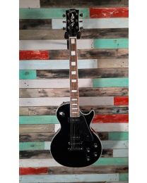 Burny Les Paul RLC-60P Electric Guitar, Black, 126101