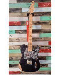 Fender Brad Paisley Esquire, Electric Guitar, Black Sparkle, 014-0322-398