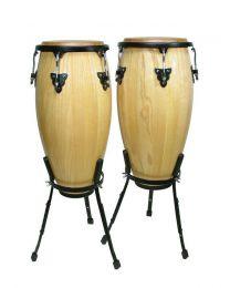 "Hayman 10""+11"" - Conga Set with Basket Style Stand - Natural"