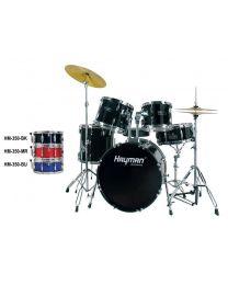 Hayman Pro Series 5-piece fusion drum kit, Black - Fusion Size