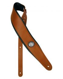 Gaucho Deluxe Padded Brown Leather Guitar Strap