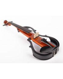Leonardo electric violin with modern design EV-30-BN with bow case and headphones
