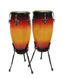 "Hayman 10""+11"" - Conga Set with Basket Style Stand - Sunburst"