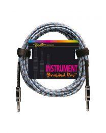 Boston Vintage Blue Instrument Cable / Lead - 2 Metal Jacks - 3 Metre