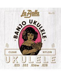 La Bella Acoustic Folk string set Banjo Ukulele L13