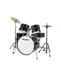 Hayman HM-100 Series Starter Drum Kit - Metallic Black
