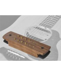 Boston Easy Install Soundhole Pickup - Humbucker with Endpin Jack - Walnut SHP-230-EPJ