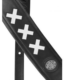 Gaucho Padded Guitar Strap - X Cross Design - Red or White Colour Options GST-605