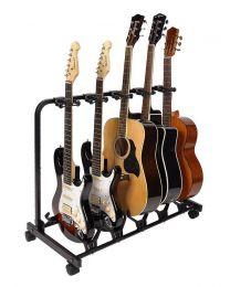 Boston Universal Guitar Rack stand GS-905 Multi Guitar Stand for 5 Guitars - Black