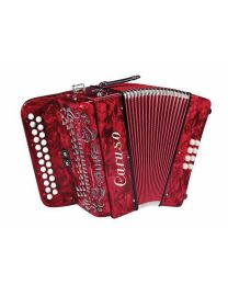 Caruso Deluxe Diatonic 2 Row Button Accordion - Italian made with case
