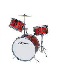 Hayman 3 Piece Junior Drum Kit HM-33 Metallic Red