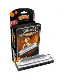 Hohner Progressive Series 560 Special 20 Harmonica (F Key)