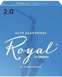 Rico Royal Alto Sax Reeds by D'Addario by D'Addario, Strength 2.0, 10 pack.
