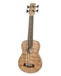 Korala Ukulele Bass -  Flamed Okume Wood UKBB-310-E with EQ and Tuner