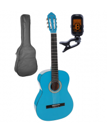 Salvador Cortez 4/4 Classical Guitar Pack CG-144-BU Blue