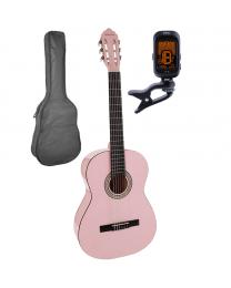 Salvador Cortez 4/4 Classical Guitar Pack CG-144-PK Pink