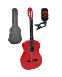 Salvador Cortez 4/4 Classical Guitar Pack CG-144-RD Red