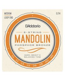 D'Addario Phosphor Bronze, Medium 11-40, Mandolin Strings EJ74