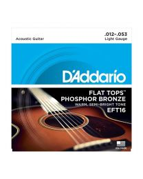 D'Addario Phospor Bronze Flat Top Acoustic Guitar Strings, Light, 012-053 EFT16