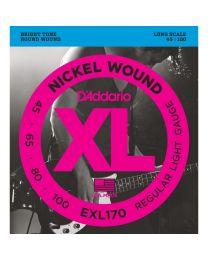 D'Addario EXL170 Nickel Electric Bass Strings Regular Light .045