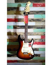 Second Hand Fender American Strat Electric Guitar 3 Tone Sunburst 3TS