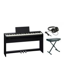 Roland FP-30 Digital Piano Complete Package with Stand, Pedals, Bench and Headphones FP30