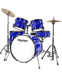 Hayman HM-100 Series Starter Drum Kit - Metallic Blue