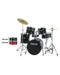 Hayman Pro Series 5-Piece Jazz Drum Kit HM-325-BK Black