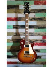 Burny RLG-60 SL Electric Guitar LP Style, Light Brown Sunburst