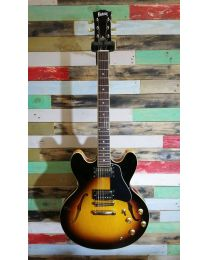 Burny 335 Electric Guitar Brown Sunburst RSA-65