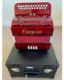 Caruso Master Built Deluxe Diatonic 2 Row Button B/C Accordion - Italian made - with Hardcase - 4 Chord / Voice