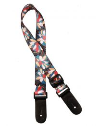 Gaucho Standard Series Ukulele Strap with Multi colour Flowers GSTU-80-MC