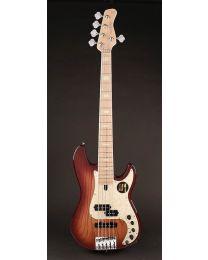 Sire Marcus Miller P7 2nd Gen Series Swamp Ash 5-String Bass Guitar P7+ S5/TS Tobacco Sunburst