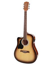 Richwood Artist Series Lefthanded Electro Acoustic Guitar RD-12LCESB Sunburst