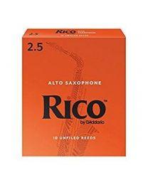 Rico Alto Sax Reeds by D'Addario, Strength 2.5, 10-pack