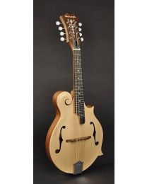 Richwood All Solid Master Series F-Style Mandolin with Solid Mahogany Body & Solid Spruce Top RMF-80-NT Natural