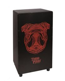 Torro Perro Art Series EU Handmade Cajon BULLDOG Black-Black-Red TPC-BD-BBR